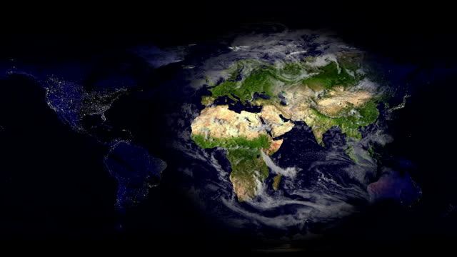 Earth map Day and Night