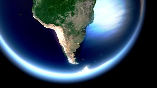 Earth rotating - southern hemisphere
