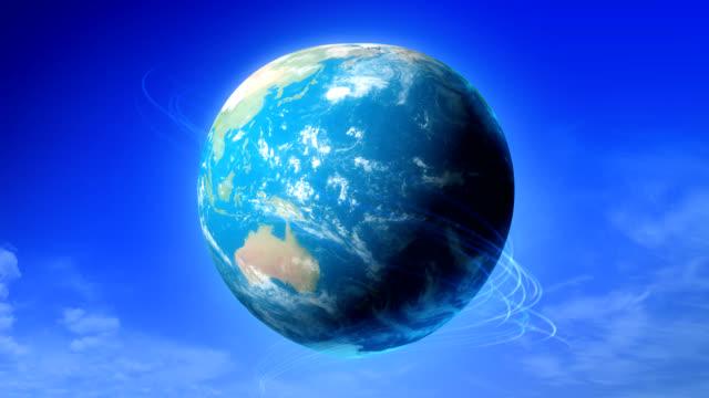 Erde um Herz-symbol Verwandlung