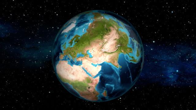 Earth Zoom In - Cyprus - Nicosia