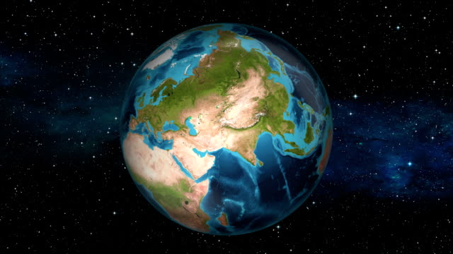 Earth Zoom In - Iraq - Baghdad