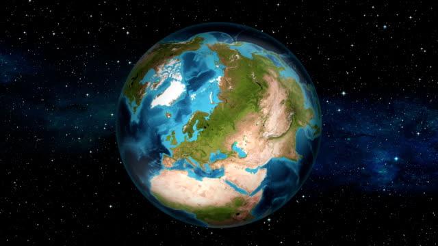 Earth Zoom In - Sweden - Stockholm