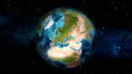 Earth Zoom In - Switzerland - Bern