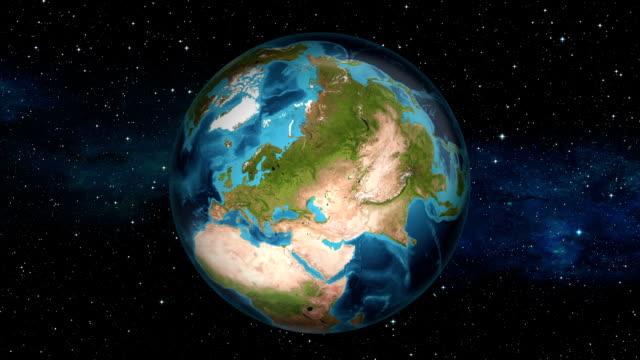 Earth Zoom In - Ukraine - Kiev