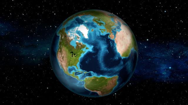 Earth Zoom In - United States - Washington