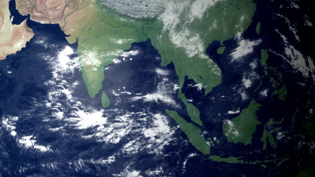 Earth zooming in on… Burma (with alpha matte)