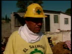 Earthquake aftermath Rescue worker saying has never seen anything like this in his life SOT **audio echo**
