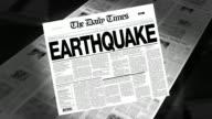 Earthquake - Newspaper Headline (Intro + Loops)