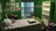 MS Earthquake simulation in child's bedroom / Tokyo, Tokyo Prefecture, Japan