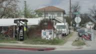 East 6th Street corner with food trucks in Austin's East Sixth IBIZ District