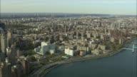 AERIAL WS East Harlem and Harlem River / New York City, New York, USA