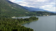East Side Of Flathead Lake  - Aerial View - Montana, Lake County, United States