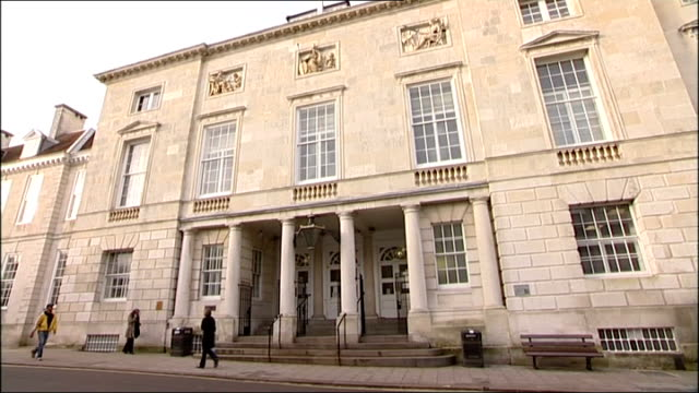 East Sussex Lewes Lewes Crown Court EXT **flash photography** Kay Gilderdale leaving court with her son Stephen Gilderdale General views of Lewes...