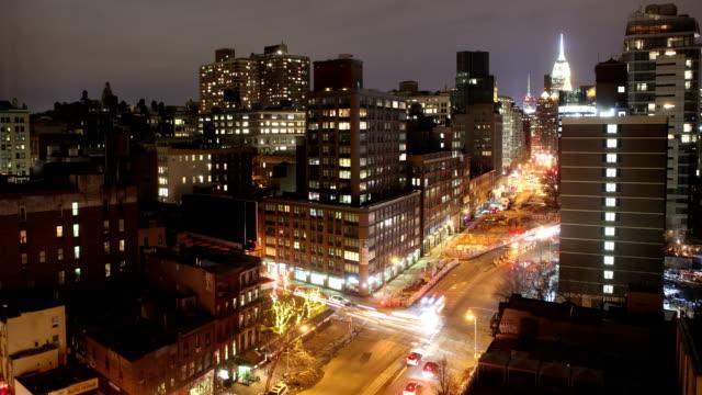 Der Innenstadt von New York City Zeitraffer