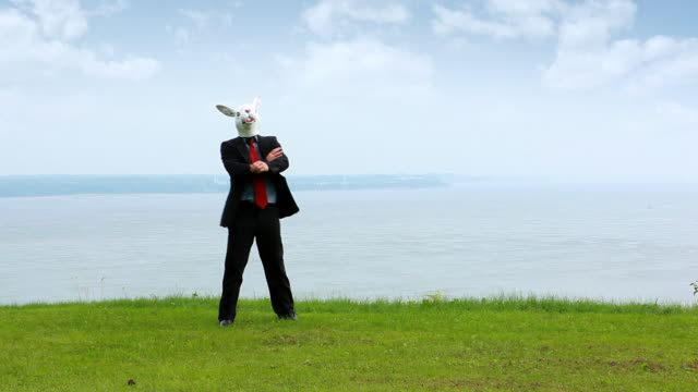 Easter Businessman in Nature