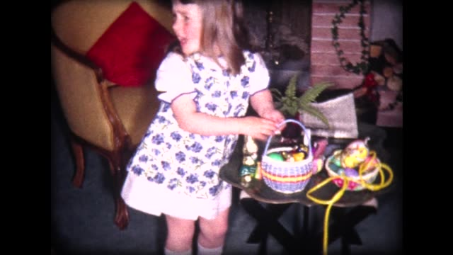 1965 Easter Egg Hunt with family