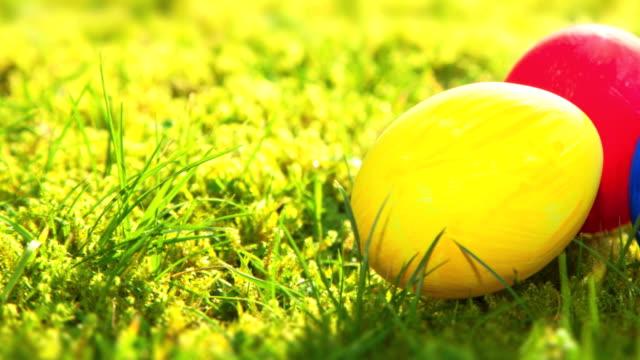 Uova di Pasqua su prato