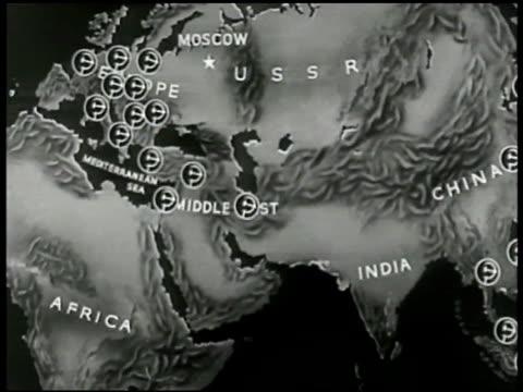 MAP Eastern Hemisphere zoom in Europe Map of Europe