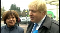 Maria Hutchings campaigning with Boris Johnson Johnson and Hutchings speaking to people SOT / Boris Johnson speaking to press SOT There's only two...