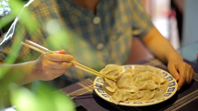 Eating and Enjoying Chinese Dumpling