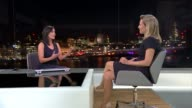 Chef who suffered anorexia and bulimia writes book ENGLAND London INT Lisa Roukin LIVE STUDIO interview SOT