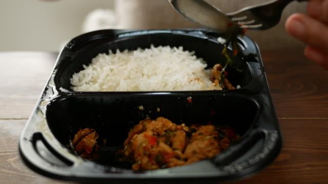 Eten van Thais eten Lunchbox