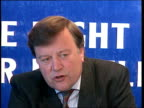EC/Byelections campaign CF TAPE NO LONGER AVAILABLE ENGLAND Hants Eastleigh MS Car along PAN RL and parks as Chancellor Kenneth Clarke MP out INT MS...