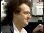 Eclipse to be visable from north of Scotland ITN Queen guitarist Brian May along from plane next Sir Patrick Moore May posing for press Press Brian...