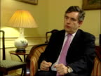 Brown comments on tax ENGLAND London INT Gordon Brown MP interview SOT If you look at what's happened during the Labour government over the last...