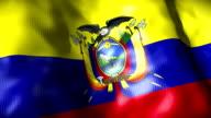 Ecuador Flag waving, looping