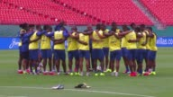 Ecuador trained at Sun Life Stadium in Miami Gardens on Tuesday on the eve of their friendly against England in preparation for the World Cup