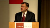 Ed Balls speech to the Fabian Society Balls speech SOT And however difficult this is for me for some of my colleagues and for our wider supporters we...