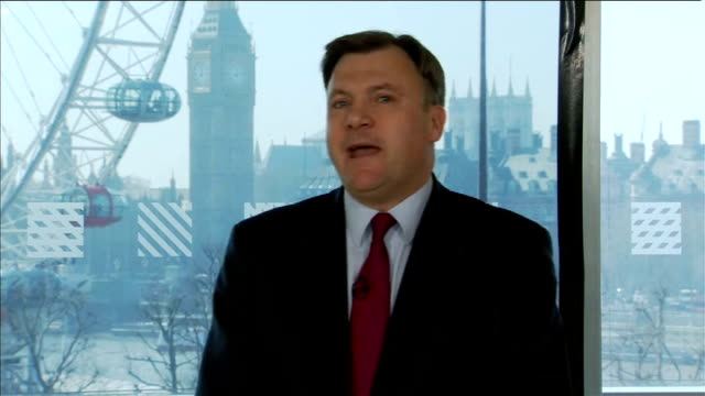 Ed Miliband and Ed Balls prebudget press conference Ed Balls MP press conference SOT two tests for budget on jobs and growth and tax spending and pay...