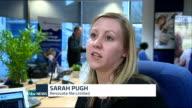 Ed Miliband announces apprenticeships plan in business speech Location unknown Sarah Pugh setup shots at desk / interview SOT Amir Jirbandey...