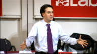 Ed Miliband attacks government economic policy and handling of Eurozone crisis Need to reform the way the energy companies work / taking on vested...