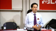 Ed Miliband attacks government economic policy and handling of Eurozone crisis ENGLAND Warwickshire Coventry INT Labour Party Leader Ed Miliband...