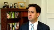 Ed Miliband interview on Bob Diamond resignation ENGLAND London INT Ed Miliband MP interview SOT re Bob Diamond gone I think it was necessary and...