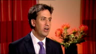 Ed Miliband interview on London Mayoral candidate ENGLAND Brighton INT Ed Miliband MP interview SOT on how Labour's London Mayoral candidate will be...