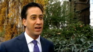 Ed Miliband MP interview on the Autumn Statement ENGLAND London EXT Ed Miliband MP interview SOT Miliband away