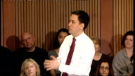 Ed Miliband speech and Q and A session Ed Miliband Question and Answer QA session SOT 'Aim Higher' is important programme / Goes to heart of debate...