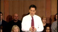 Ed Miliband speech and Q and A session Ed Miliband Question and Answer QA session SOT I couldn't agree more / Need to speak up on this issue and will...