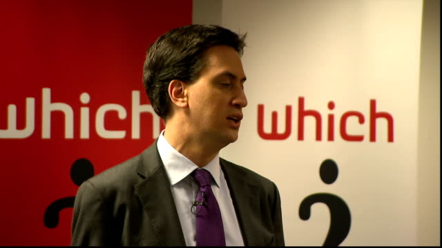 Ed Miliband speech at Which Miliband speech SOT On pensions people putting aside their savings to try and have dignity in retirement / hopefully will...