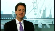 Ed Miliband speech on Englishness ENGLAND London INT Ed Miliband MP interview SOT On his problem with Jeremy Clarkson's stance on Scottish...