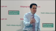 Ed Miliband speech on govt betraying young people Ed Miliband speech continued SOT I'd like to start by telling you what the promise of Britain has...