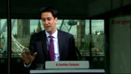 Ed Miliband speech on NHS and social care Ed Miliband MP QA session SOT on why should people trust Labour on NHS when they won't commit to raising...