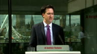 Ed Miliband speech on NHS and social care Ed Miliband MP QA session SOT on Labour party being confused and unwieldy A proud of our policy / need to...