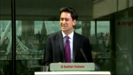 Ed Miliband speech on NHS and social care Ed Miliband MP QA session SOT what can you do to stop private firms creaming money from care firms A...
