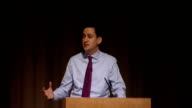 Ed Miliband speech to Fabian Society Ed Miliband speech continued SOT Let me start with the first change we need – on the economy The financial...