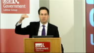 Ed Miliband speech to Labour's Local Government Group Ed Miliband speech SOT What are the other arguments we need to make very important that we make...