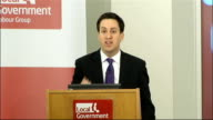 Ed Miliband speech to Labour's Local Government Group Ed Miliband speech SOT On cuts the fact that they are going so far and so fast is what means we...